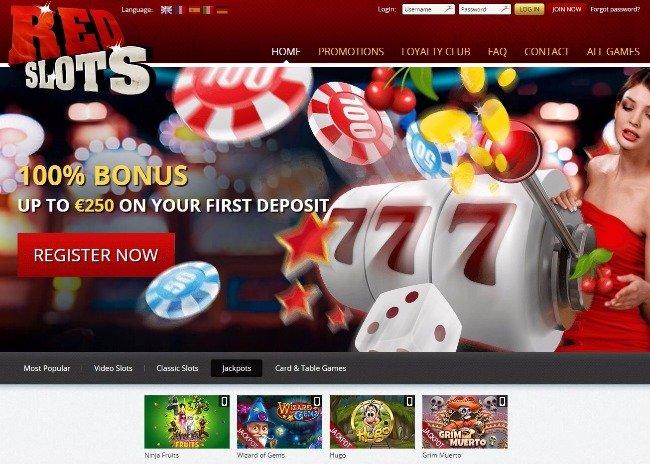 Red Slots progressive jackpots