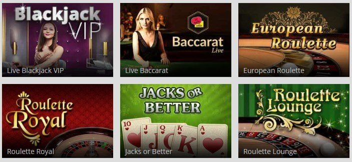 magic red casino table games