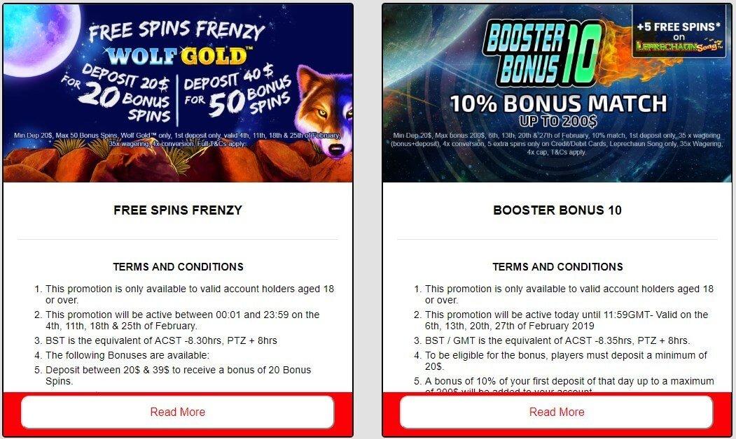 redspins bonus