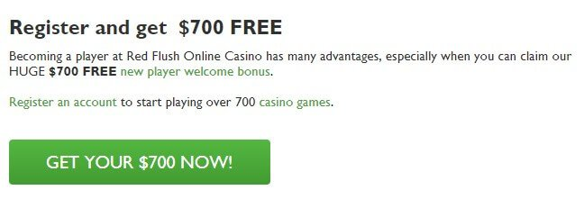 play Red Flush Casino welcome bonus