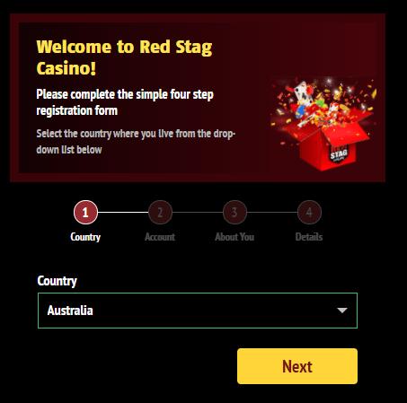 Red Stag Casino login