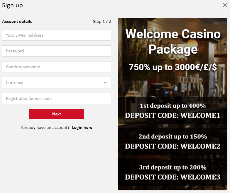red lion casino login