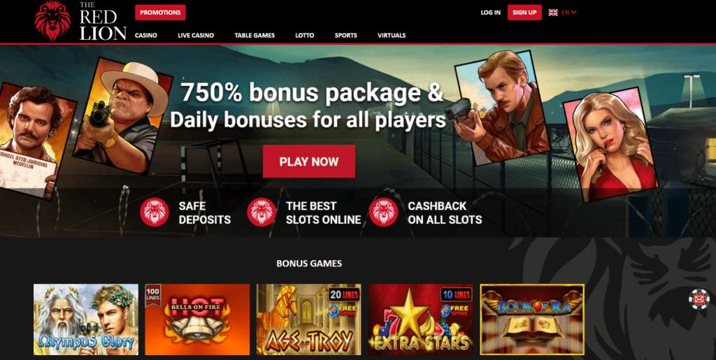red lion casino bonus