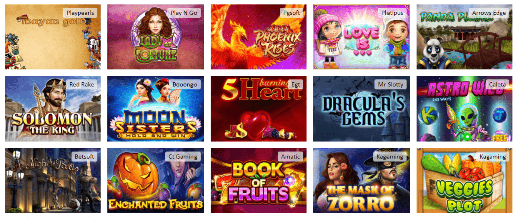 red lion casino games