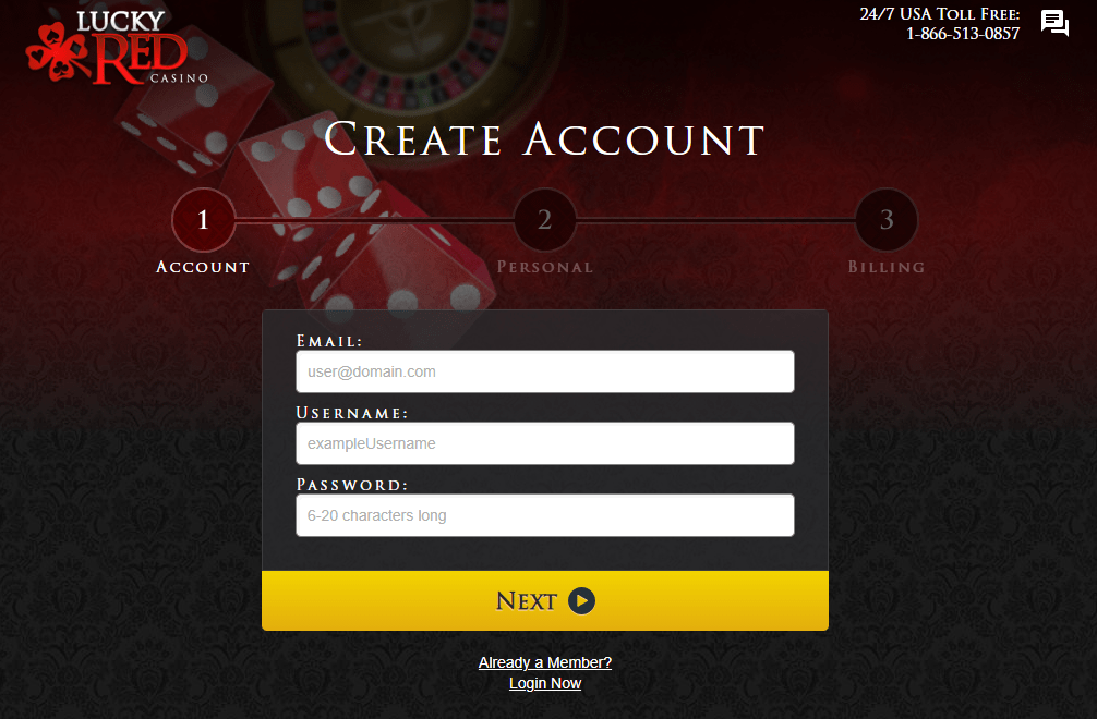 lucky red casino promotions sign up